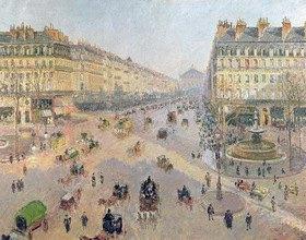Camille Pissarro: Die Avenue de L'Opera, Paris