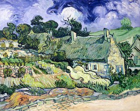 Vincent van Gogh: Thatched cottages at Cordeville, Auvers-sur-Oise