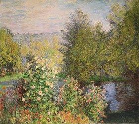 Claude Monet: Eine Ecke des Gartens bei Montgeron