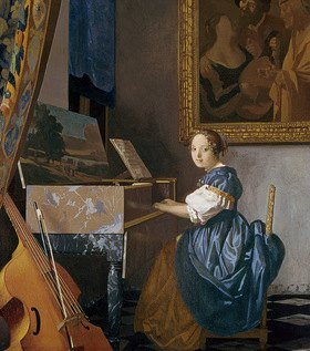 Jan Vermeer van Delft: A Young Lady Seated at a Virginal