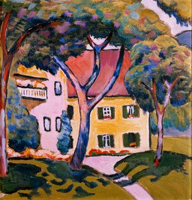 August Macke: Haus in einer Landschaft