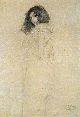 Gustav Klimt: Portrait of a young woman