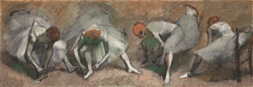 Edgar Degas: Fries von Tänzerinnen (beim Binden ihrer Schuhe)