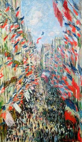 Claude Monet: The Rue Montorgueil, Paris, Celebration of June