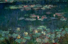 Claude Monet: Seerosen, Nympheas, grüne Reflektionen, rechter Teil