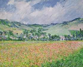 Claude Monet: Mohnfeld bei Giverny