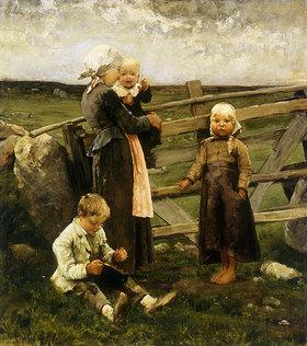 Bernardus Johannes Blommers: Kinder mit Kirschen