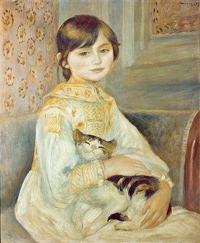 Auguste Renoir: Julie Manet mit Katze