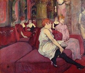 Henri de Toulouse-Lautrec: In the Salon at the Rue des Moulins