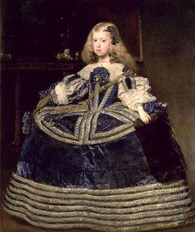 Diego Rodriguez de Velazquez: Infantin Margarita in Blau (Tochter von Philipp IV. von Spanien)