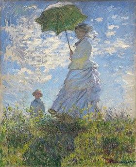 Claude Monet: Die Dame mit dem Sonnenschirm - Madame Monet and ihr Sohn