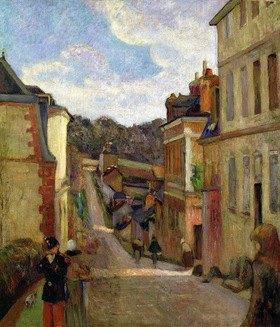 Paul Gauguin: Eine Vorstadtstraße, Une Rue des faubourgs_