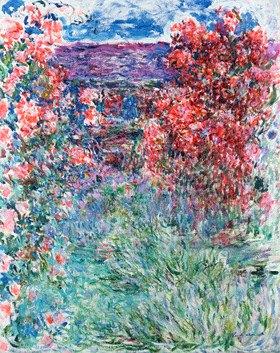 Claude Monet: Das Haus in Giverny unter Rosen