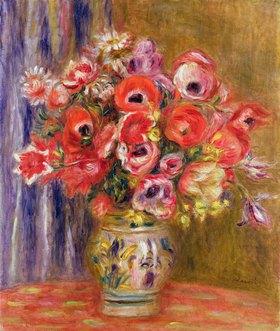 Auguste Renoir: Vase of Tulips and Anemones