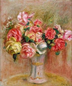 Auguste Renoir: Roses in a Sevres vase