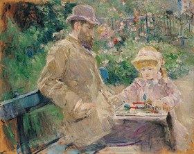 Berthe Morisot: Eugene Manet mit seiner Tochter in Bougival