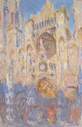 Claude Monet: Kathedrale von Rouen, Sonnenlicht, Sonnenuntergang