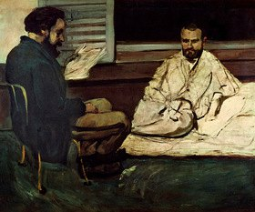 Paul Cézanne: Paul Alexis, Reading a Manuscript to Emile Zola