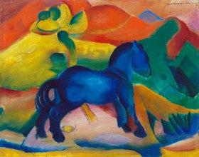 Franz Marc: Blaues Pferdchen, Kinderbild. 1912.