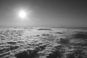Günter Kozeny: Wolkenmeer bei Sonnenaufgang; Nördlicher Alpenrand, Oberbayern