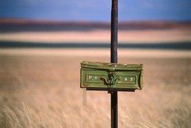 Günter Kozeny: Namibia, Briefkasten an einer Farm