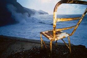 Günter Kozeny: Canaren; La Palma; Stuhl und Brandung