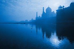 Günter Kozeny: Indien; Agra; Yamuna River und Taj Mahal