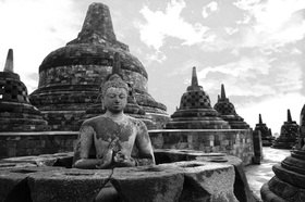 Günter Kozeny: Indonesien; Java; Buddhistische Tempelanlage BOROBODUR