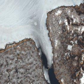 Günter Kozeny: Luftaufnahme, Winter, Wasser und Eis