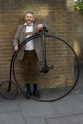 Horst A. Friedrichs: Cycle Style.<p>Gentleman with his High Wheel Bicycle