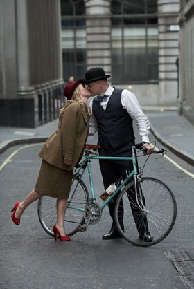 Horst A. Friedrichs: Cycle Style.<p>Alex and Zofia, both riding Bianchi