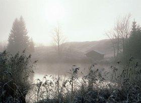 Nebel am Geroldsee bei Mittenwald, Oberbayern, Bayern, Deutschland