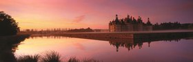 Schloss Chambord im Sonnenuntergang, Loiretal, Centre, Frankreich
