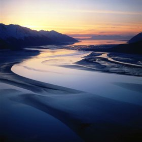 Turnagain Arm, Chugach-Mountains, Alaska, USA
