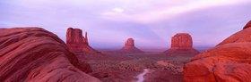 Dusk in the monument Valley, Navajo Tribal park, Arizona, the USA