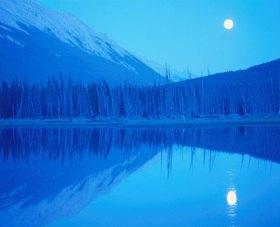Vermillion Lake mit Mount Rundle, Banff Nationalpark, Alberta, Kanada