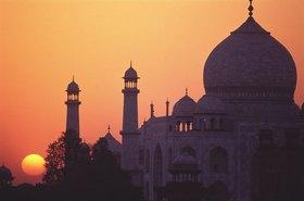 Taj Mahal bei Sonnenuntergang, Agra, Uttar Pradesh, Indien