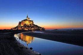 Wattenmeer mit dem Mont-Saint-Michel, Basse-Normandie, Frankreich