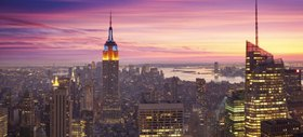 Empire State Building am Abend, Manhattan, New York City, New York, USA