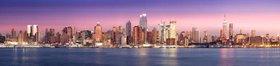 Midtown Skyline am Abend, New York City, New York, USA