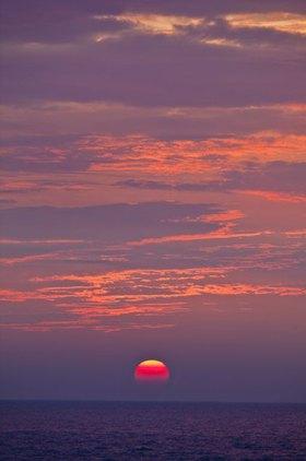 Sonnenuntergang über dem Lake Huron, Michigan, USA