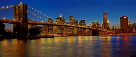 Brooklyn Bridge mit der Skyline von Manhattan, New York City, New York, USA