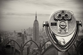 Rockefeller Center mit Blick zum Empire State Building