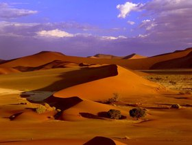 Look at the sand dunes in the Sossusvlei, Namibia