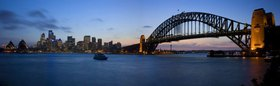Harbour Bridge mit Opera House, Sydney, New South Wales, Australien