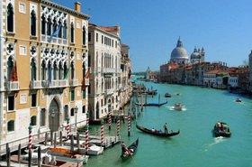 Canal Grande mit Santa Maria della Salute in Venedig