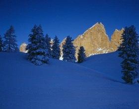 Blick zu den Tschierspitzen, Sella Ronda, Dolomiten, Trentino-Südtirol, Italien