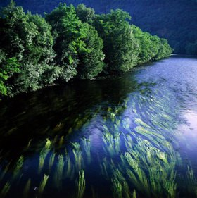 Lot, River Dordogne, Midi-Pyrenäen, Frankreich