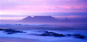 Look at the Board Bay, Table Mountain and Capetown, west cape, South Africa
