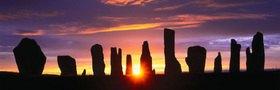 Callanish Standing Stone auf Lewis island, Schottland, Grossbritannien
